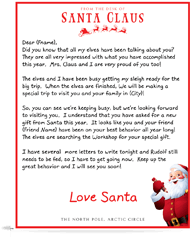 official letters from santa